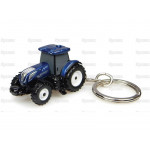 Tractor Key Ring Scale UNIVERSAL HOBBIES Ford New Holland T7 225 Blue Power