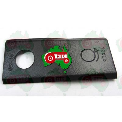 LH Disc Mower Blade ID 16.25mm, 93mm x 40mm x 3mm