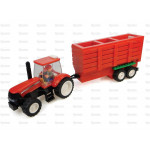 Tractor UNIVERSAL HOBBIES Case IH Tractor and Trailer Toy Brick Building Kit