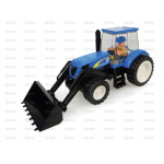 Tractor UNIVERSAL HOBBIES New Holland Tractor w Front Loader Toy Brick Building