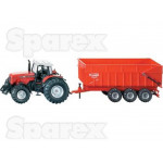 Tractor 1/87 Scale SIKU Massey Ferguson Tractor with Trailer