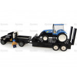 Scale Sparex () New Holland Pick-Up Truck with Tractor and Trailer Building Brick Set