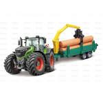 Tractor + Logging Trailer - Fendt 1000 Vario