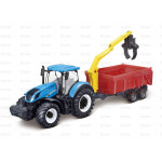 Tractor 10cm Scale Sparex New Holland T7-315 Tractor with Combination Trailer