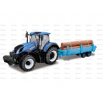 Tractor & Log Trailer - New Holland T7-315