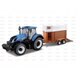 Tractor 1/32 Scale Sparex New Holland T7-315 Tractor with Horse Trailer