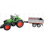 Tractor Farm Tractor & Trailer L&S+USB Charger - DE 1:16 R/C