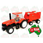 UNIVERSAL HOBBIES Case IH Tractor & Baler Toy Brick Building Kit