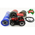 Xmas Gift Farmer Set Case IH Oil Filter, Fuel Filter, Grease Tube w/Toy