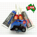 Christmas Gift Tractor Pack Toy Sealant Farmer Massey Ferguson w/ Front Loader